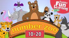 Bé Học Đánh Vần Count 10 To 20 With Number Zoo Toán Học Vui Cho Bé