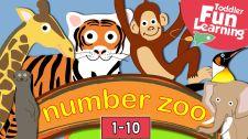 Bé Học Đánh Vần Count 1 to 10 With Number Zoo Toán Học Vui Cho Bé