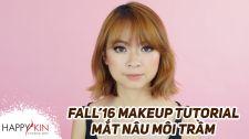 Làm Đẹp Mỗi Ngày Cùng Happyskin Vietnam Makeup Tutorial Mắt Nâu Môi Trầm Cho Thu 2016 Học Trang Điểm Cùng Happyskin