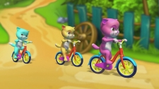 LalaTV Three Little Kittens Went To The Park Hoạt Hình 3D