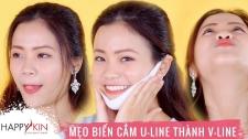 Làm Đẹp Mỗi Ngày Cùng Happyskin Vietnam 5 Mẹo Hô Biến Cằm U-Line Thành V-Line Hi, Beauties